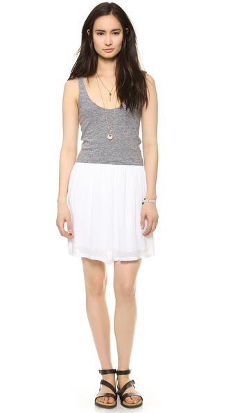 MONROW Knit Woven Dress