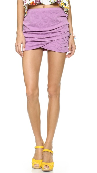 MONROW Basic Shirred Skirt