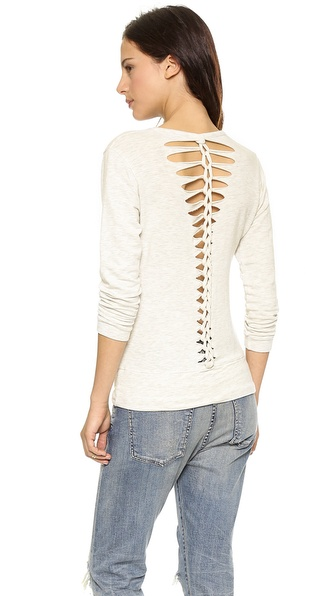 MONROW Braided Sweatshirt