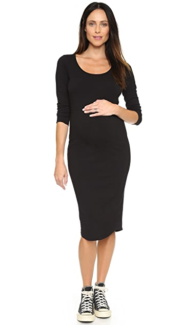 MONROW 孕妇装长袖连衣裙