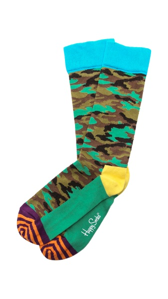 Happy Socks Camouflage Socks