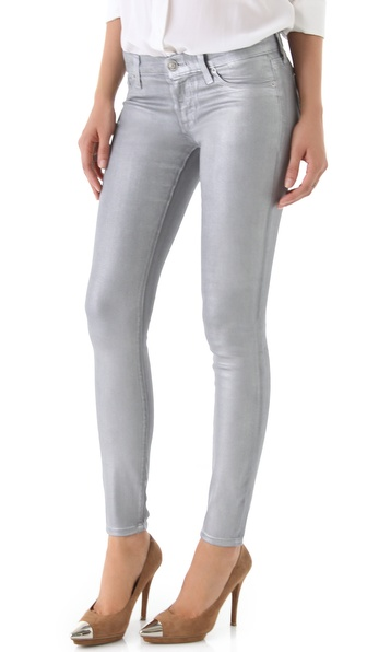 Hudson Krista Metallic Super Skinny Jeans
