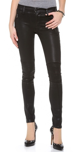 Hudson Moto Super Skinny Jeans at Shopbop / East Dane
