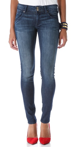 Hudson Collin Mid Rise Super Skinny Jeans at Shopbop / East Dane