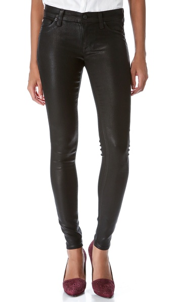 Hudson Krista Super Skinny Jeans - Black Wax at Shopbop