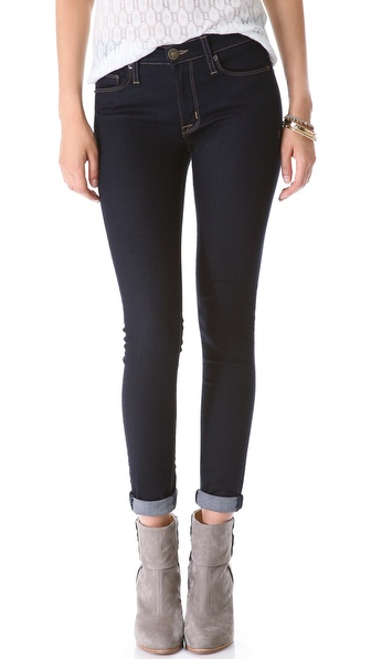 Hudson Nico Mid-Rise Super Skinny Jeans - Storm at Shopbop