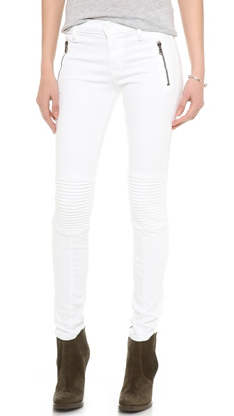 Hudson Stark Moto Jeans - White at Shopbop
