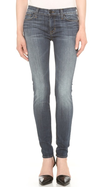 Hudson Nico Mid Rise Super Skinny Jeans - Glam at Shopbop