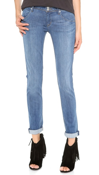 Hudson Collin Mid Rise Skinny Jeans - Tribute at Shopbop