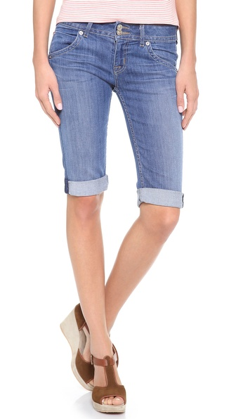Hudson Palerme Knee Cuffed Shorts - Tribute at Shopbop