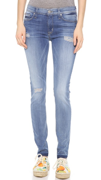 Hudson Nico Mid Rise Super Skinny Jeans - Easy Blues at Shopbop