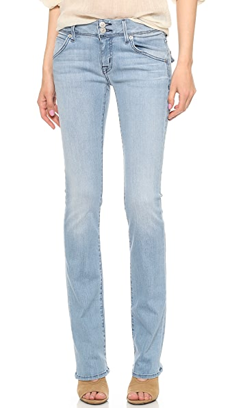 Hudson Beth Mid Rise Baby Bootcut Jeans