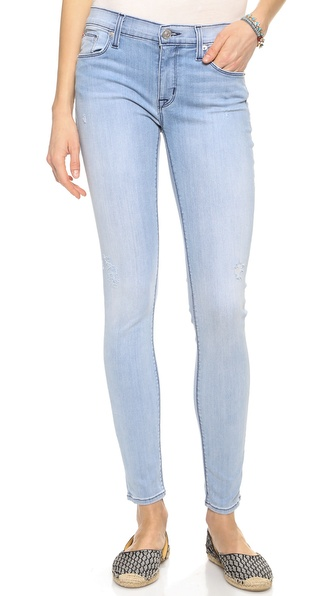 Hudson Nico Mid Rise Super Skinny Jeans - Young Love at Shopbop