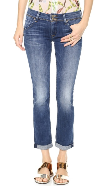 Hudson Kylie Crop Skinny Jeans With Cuffs - Revival at Shopbop