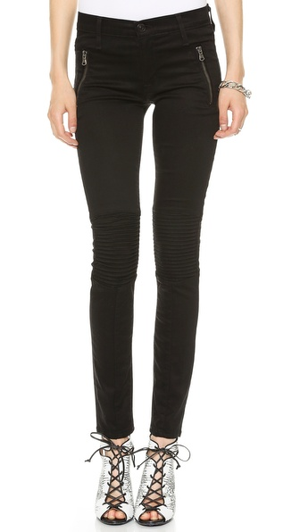 Hudson Stark Moto Jeans - Black Knight at Shopbop