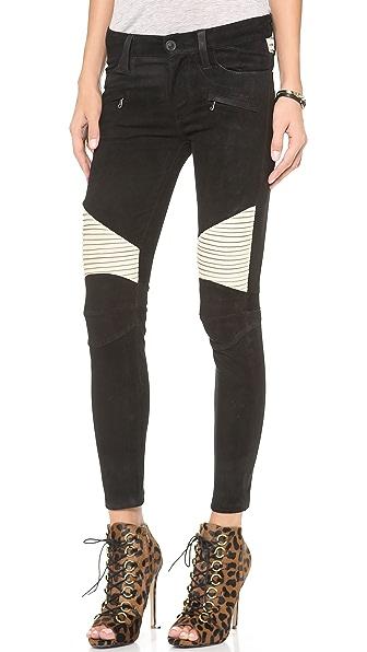 Hudson Shelby Moto Skinny Leather Pants