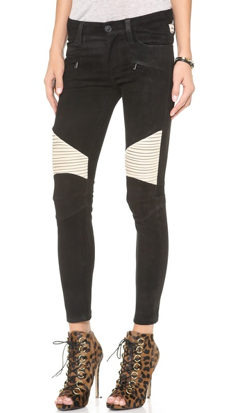 Hudson Shelby Moto Skinny Leather Pants