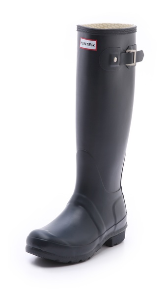 Hunter Boots Original Hunter Wellington Rain Boots - Navy at Shopbop / East Dane