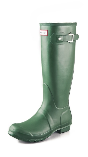 Hunter Boots Original Hunter Wellington Rain Boots - Green at Shopbop / East Dane