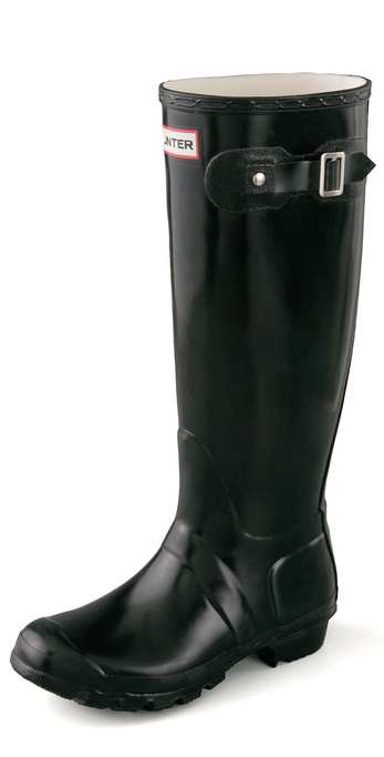 Hunter Boots Original Hunter Wellington Rain Boots - Black at Shopbop / East Dane