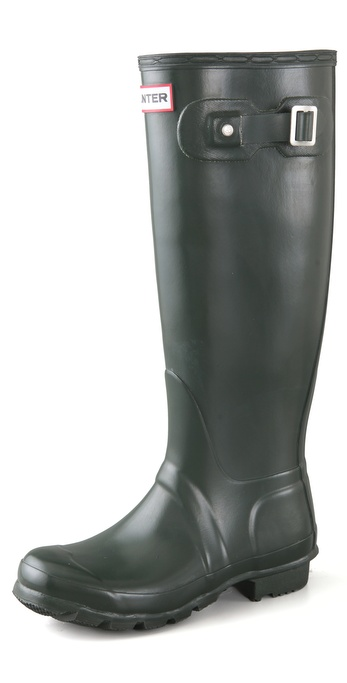 Hunter Boots Original Hunter Wellington Rain Boots - Dark Olive at Shopbop / East Dane