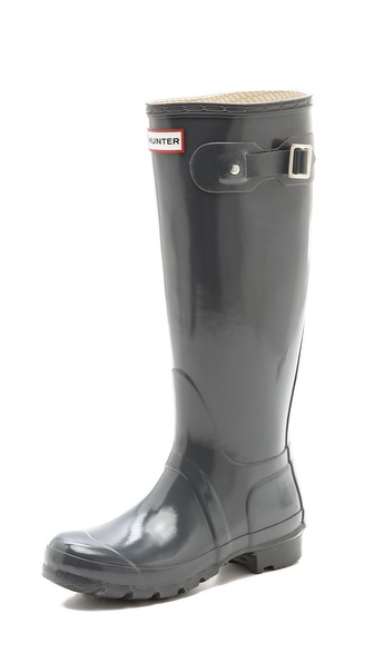 Hunter Boots Hunter Original Gloss Rain Boots - Graphite at Shopbop / East Dane