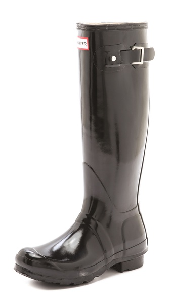 Hunter Boots Hunter Original Gloss Rain Boots - Black at Shopbop / East Dane