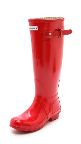 Hunter Boots Hunter Original Gloss Rain Boots - Pillar Box Red at Shopbop / East Dane