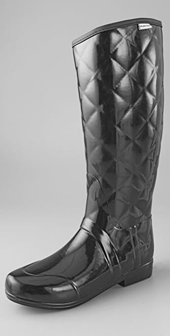Hunter Boots Regent Savoy Quilted Glossy Boots
