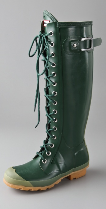 Hunter Boots Watling Lace Up Gloss Boots