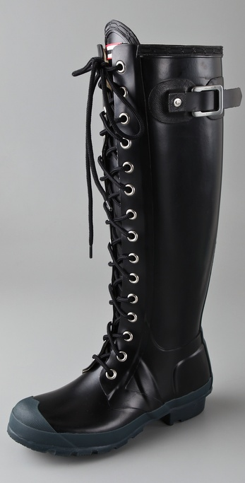 Hunter Boots Watling Lace Up Matte Boots