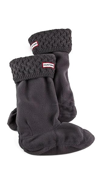 Hunter Boots Basket Knit Welly Socks