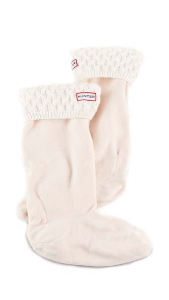 Hunter Boots Basket Knit Welly Socks