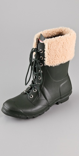 Hunter Boots Adley Lace Up Flat Boots