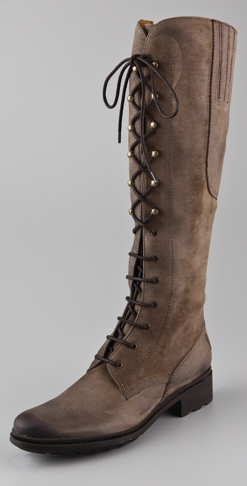 Hunter Boots Deacon Lace Up Flat Boots