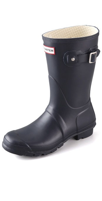 Hunter Boots Original Short Rain Boots - Navy at Shopbop / East Dane