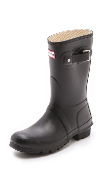 Hunter Boots Original Short Rain Boots - Black at Shopbop / East Dane