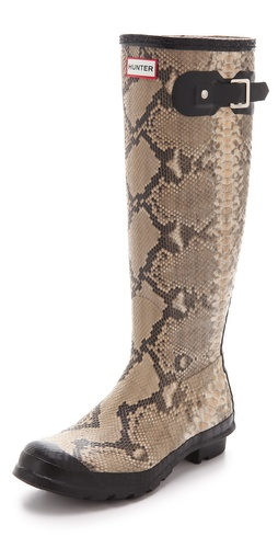 Hunter Boots Carnaby Snake Rain Boots