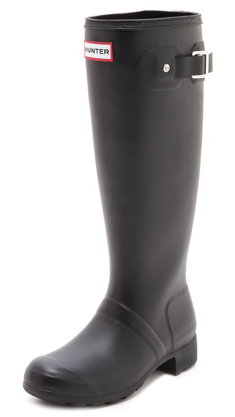 Hunter Boots Hunter Original Packable Tour Rain Boots - Black at Shopbop / East Dane
