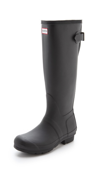 Hunter Boots Hunter Adjustable Boots - Black at Shopbop / East Dane