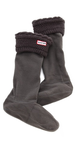 Hunter Boots Fleece Cable Welly Socks at Shopbop.com