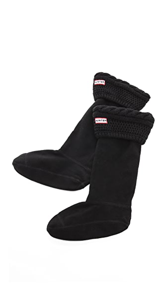 Hunter Boots Fleece Cable Welly Socks