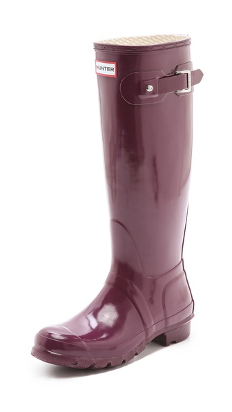 Hunter Boots Original Gloss Boots - Dark Ruby at Shopbop / East Dane