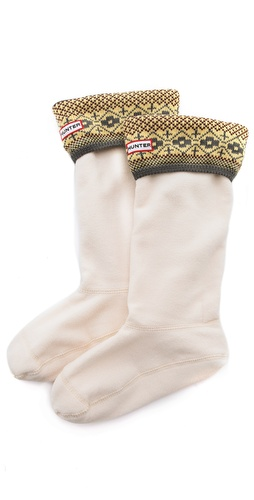 Hunter Boots Bird's Eye Cuff Welly Socks at Shopbop / East Dane