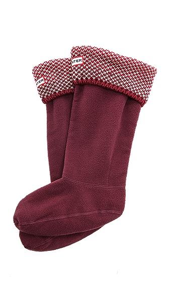 Hunter Boots Bird's Eye Cuff Welly Socks