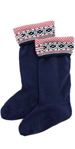 Hunter Boots Fair Isle Cuff Welly Socks at Shopbop / East Dane