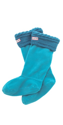 Hunter Boots Moss Cable Welly Socks at Shopbop / East Dane