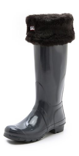 Hunter Boots Faux Fur Cuff Welly Socks at Shopbop / East Dane