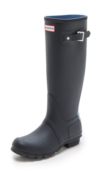 Hunter Boots Original Striped Boots - Navy/Blue Lily at Shopbop / East Dane