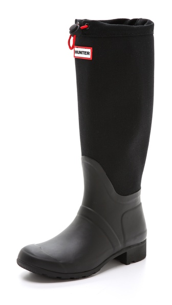 Hunter Boots Original Tour Canvas Tall Boots - Black at Shopbop / East Dane